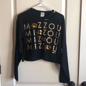 VS Pink Mizzou cropped shirt
